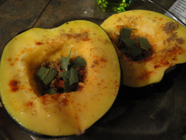 Acorn Squash, ready to microwave